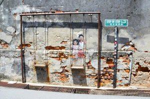 Swing Street Art in Penang