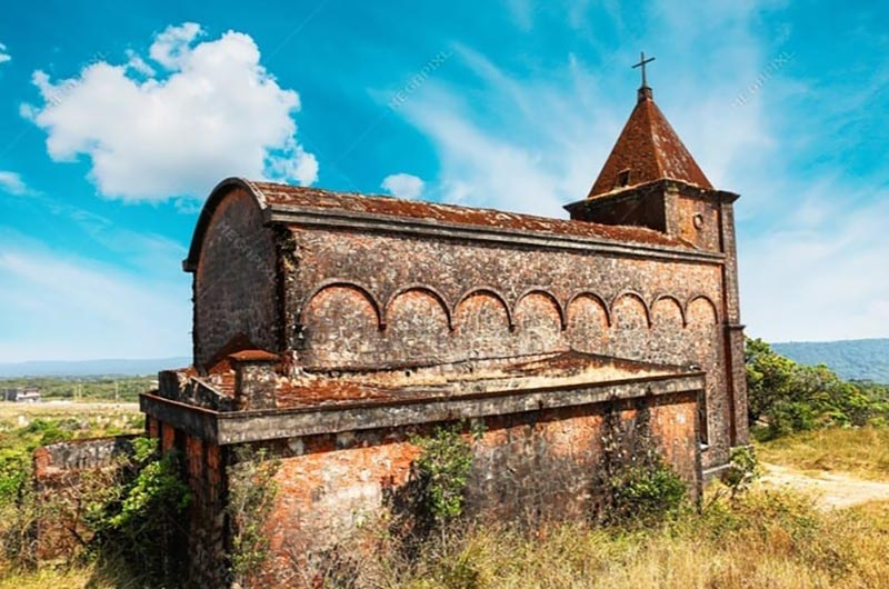 Bokor Church in Preah Monivong National Park, Cambodia