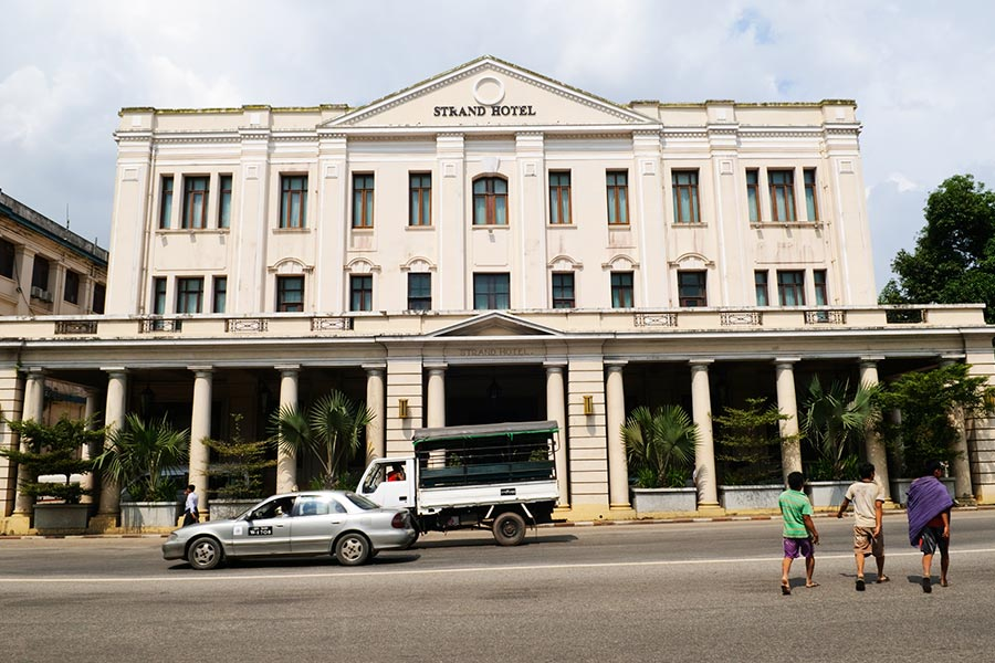 Strand Hotel - Colonial building in Downtown Yangon