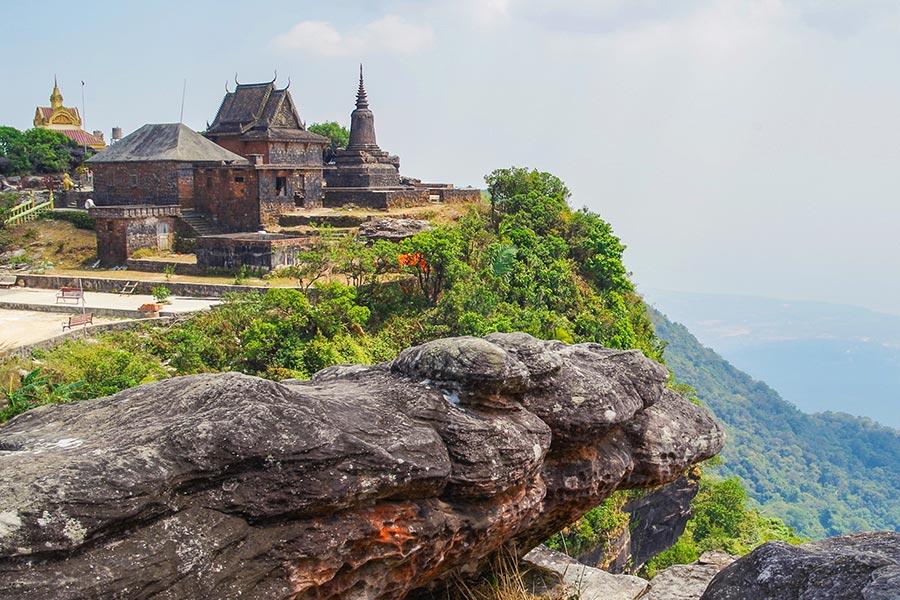 Wat Sampov Pram in Bokor National Park, Cambodia
