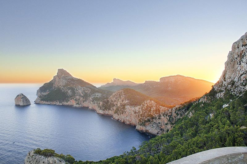 Coastline of Cap De Formentor in Mallorca