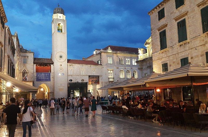 Stradun or Placa is the main street of Dubrovnik, Croatia