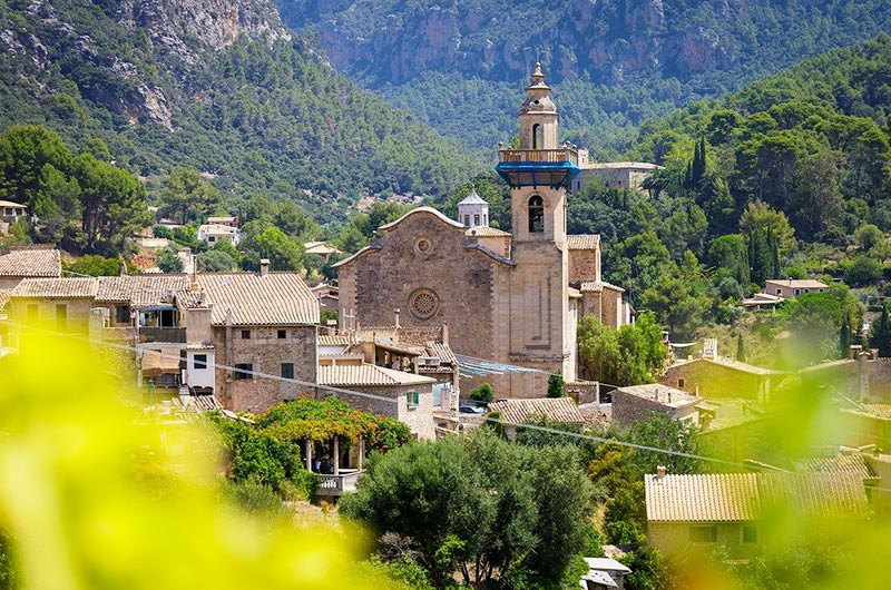 Mountain village of Valldemossa in Mallorca