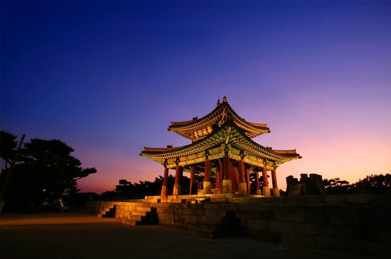 Hwaseong Haenggung Palace at Night