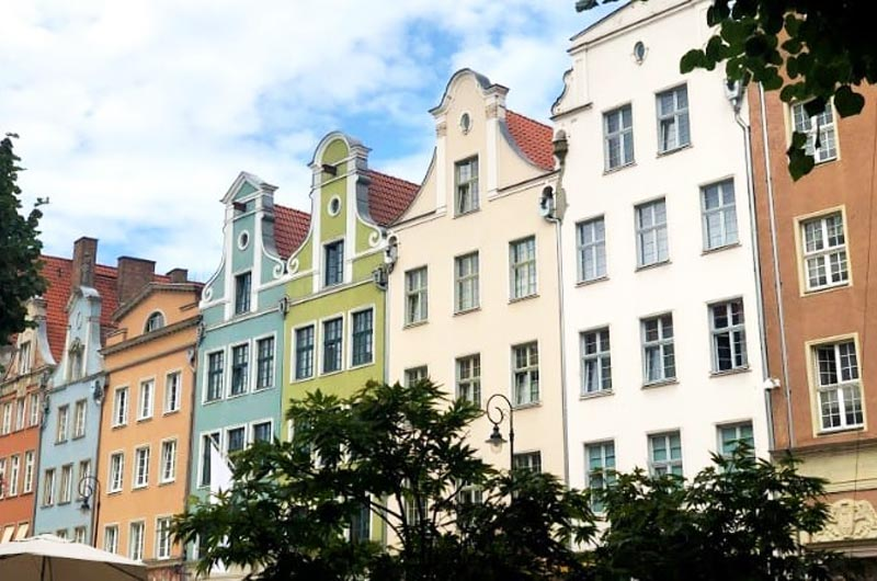 Architecture in Long Market of Gdansk