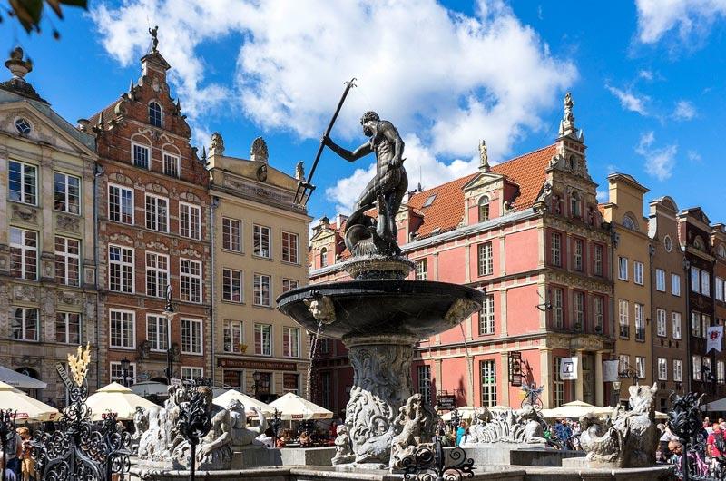 Neptune's Fountain in Gdansk
