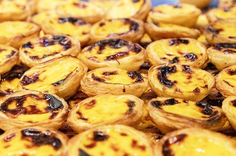 Pasteis de nata, a very popular Portuguese dessert