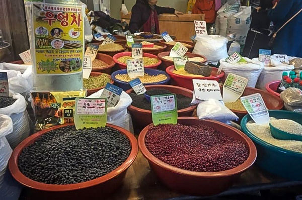 Traditional food market in Suwon