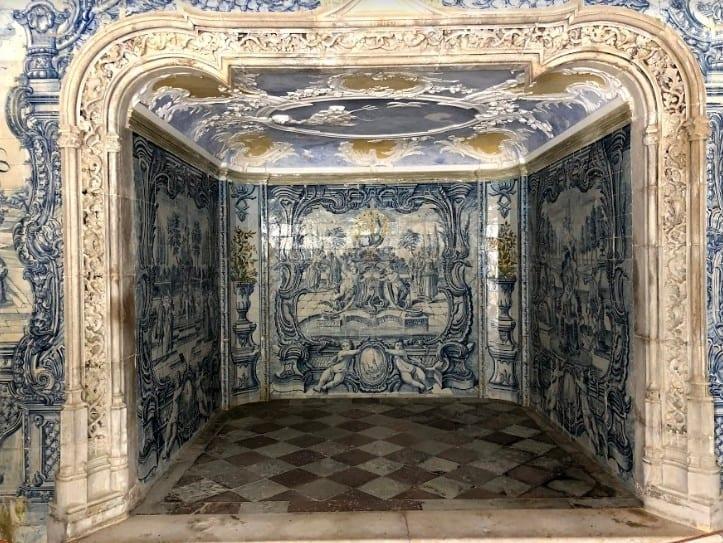 Moorish- and Manueline-style Sintra National Palace has elaborate tilework.