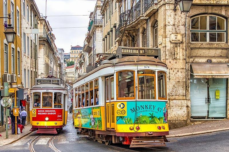 Remodelado tram in Lisbon
