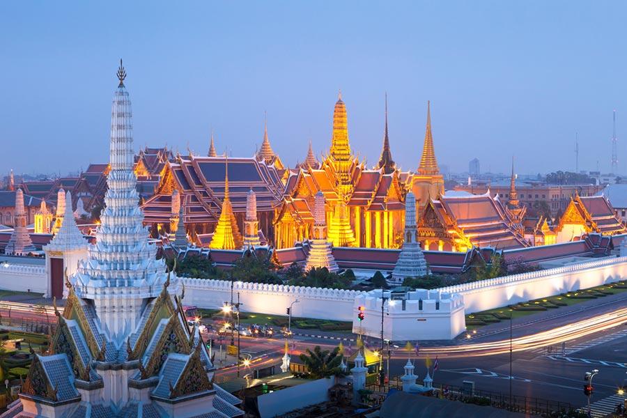 Wat Phra Kaew Temple in Grand Palace, Bangkok
