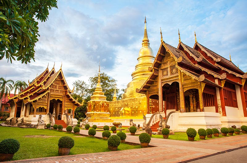 Wat Phra Singh Temple in Chang Mai
