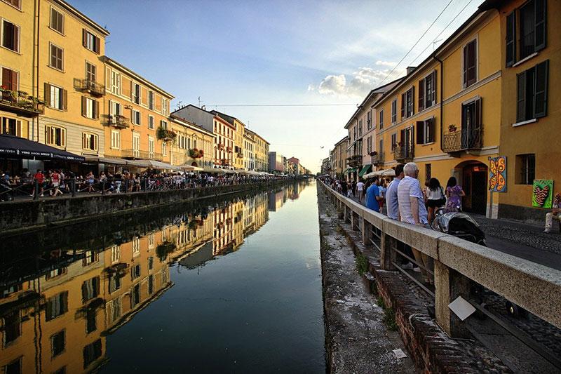 Wander down the Naviglio Milan