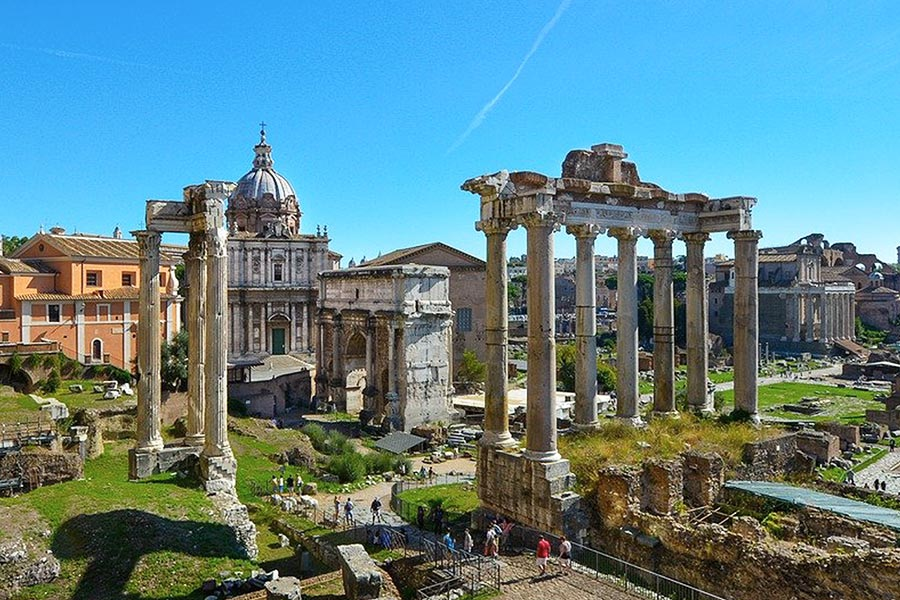Ancient ruins of Roman Forum