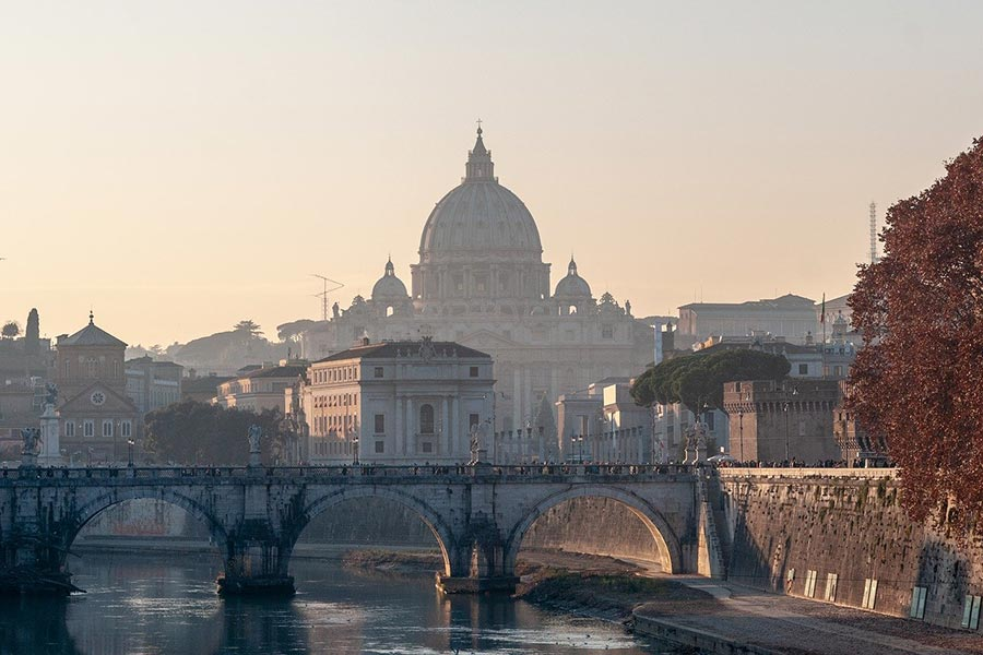 Ponte Sunset at Sant'Angelo Bridge, Rome