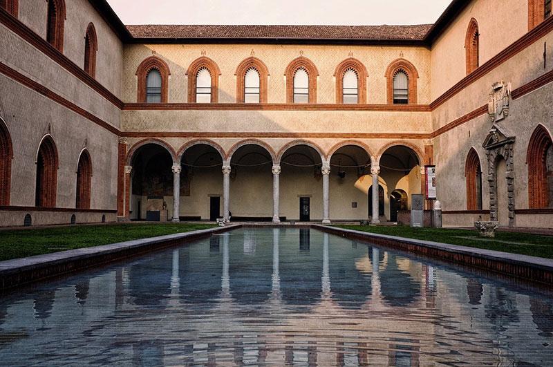 Sforzesco Castle in Milan