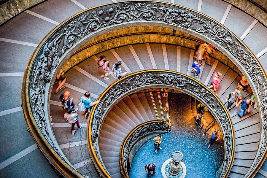 Bramante staircase in Vatican Museums
