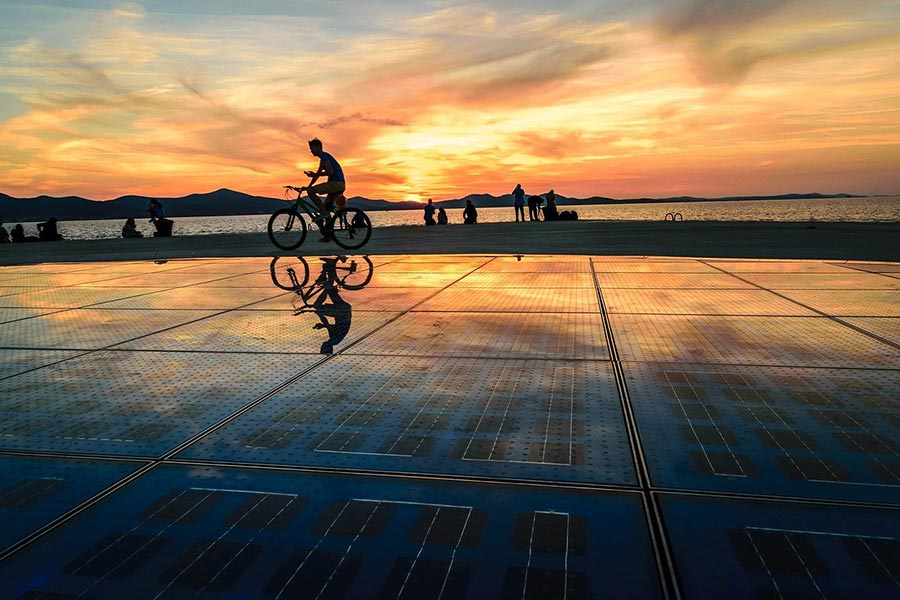 Sunset at the Sea Organ of Zadar