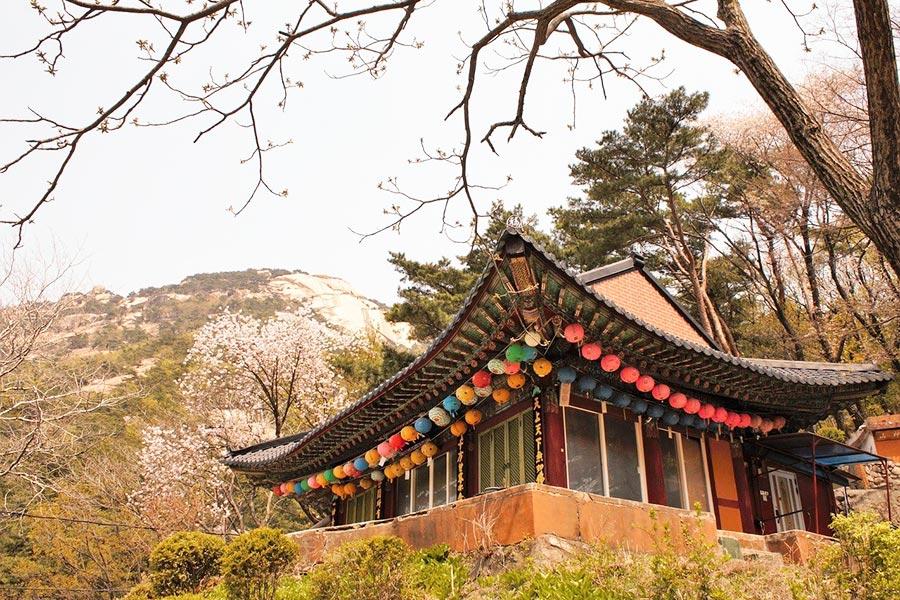 Temple in Bukhansan National Park, Seoul