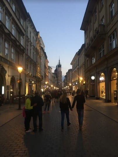 Street at Dusk in Krakow