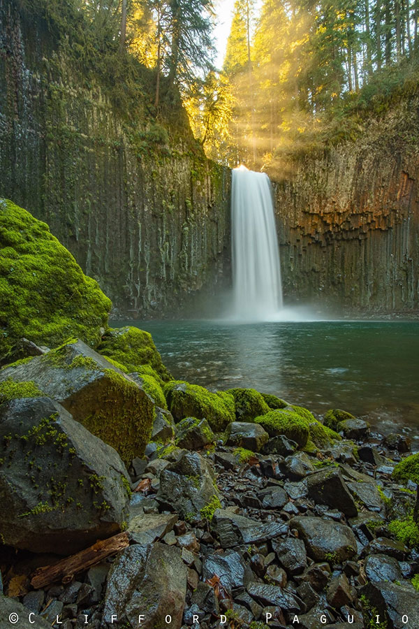 Cascading Abiqua Falls in Oregon