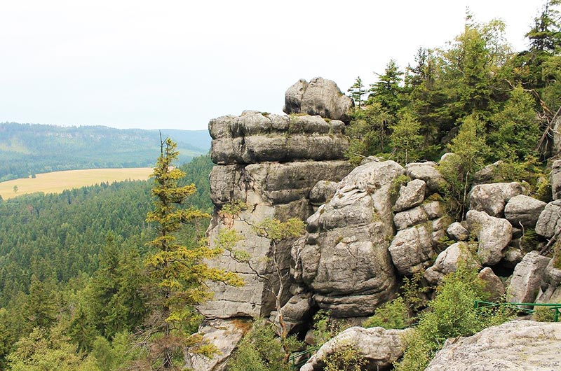 Rocks of Szczeliniec Wielki in Poland