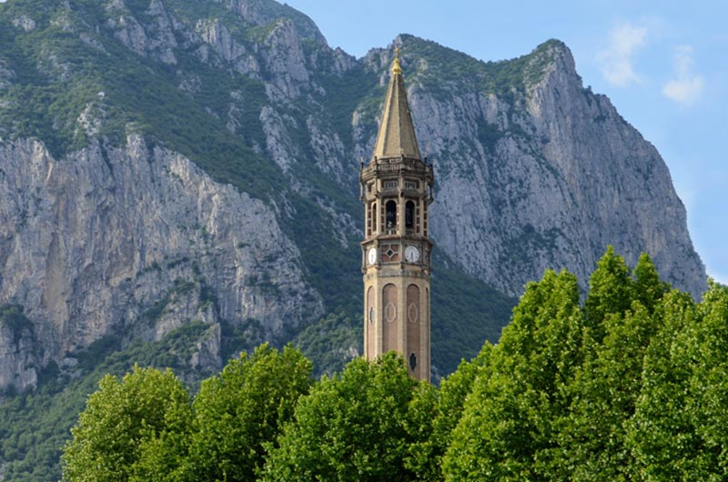 Bell tower of Minor Basilica of San Nicolò in Leccco