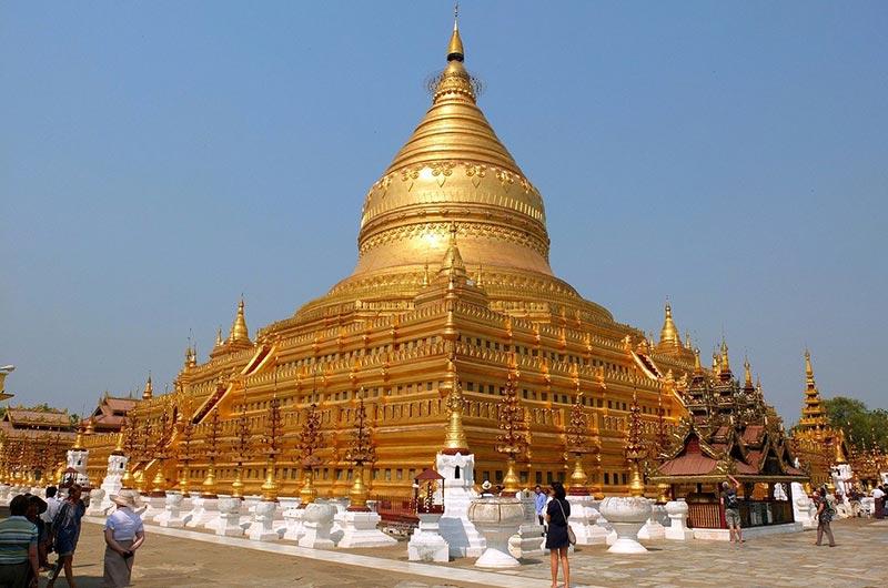 Shwezigon Temple in Bagan