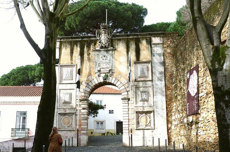 Gate at Castelo de São Jorge in Lisbon