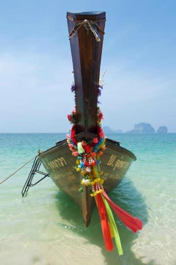Long-tail boat in Railay Bay, Thailand