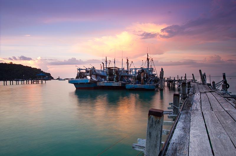 Teluk Bahang jetty in Penang National Park