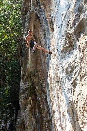 Rock Climbing in Tonsai, Thailand