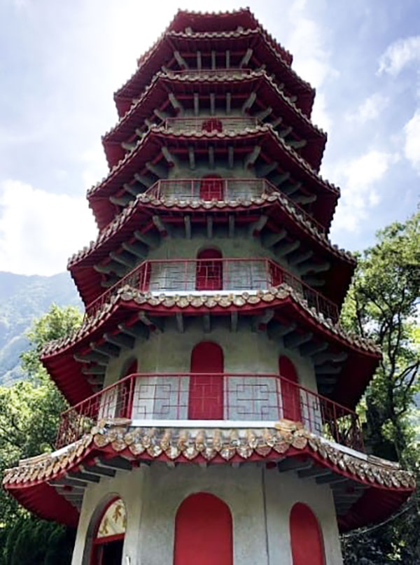 Xiangde Temple Tower in Taroko National Park