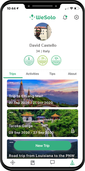 We Solo App Wht Male Traveller
