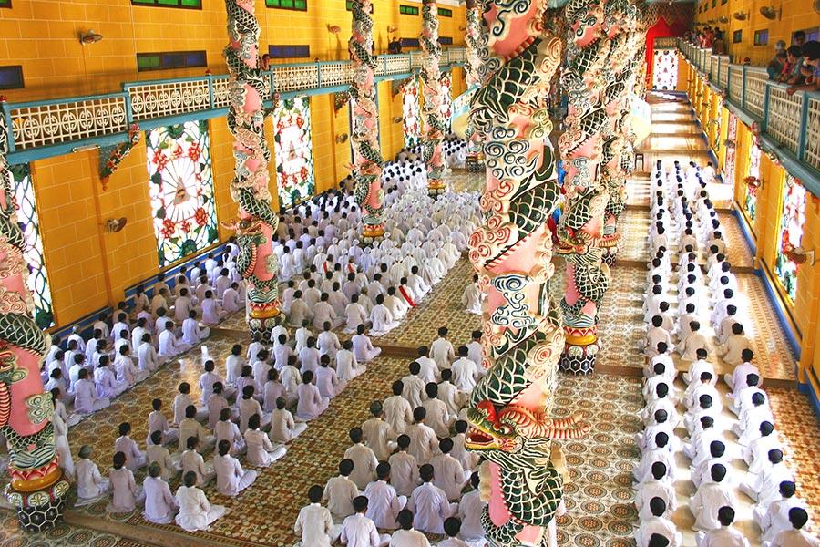 Cao Dai Temple in Ho Chi Minh, Vietnam