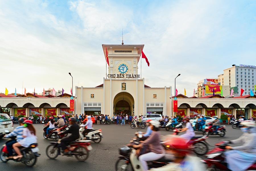 Cho Ben Thanh Market in Ho Chi Minh, Vietnam