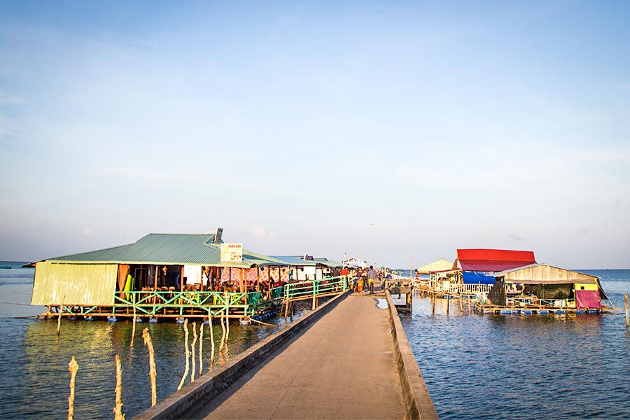 Floating restaurant at Ham Ninh Fishing village on Phu Quoc Island