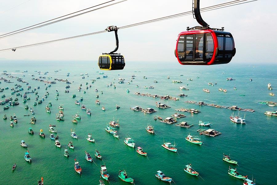 Hon Thom Cable Car in Phu Quoc, Vietnam
