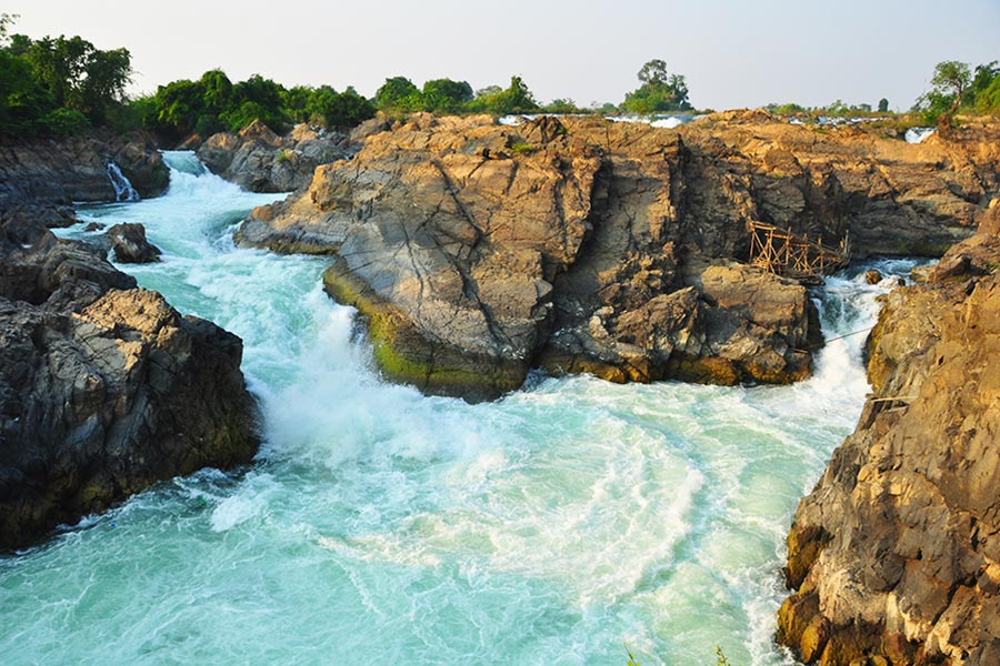 Li Phi weterfalls, Southern of Laos