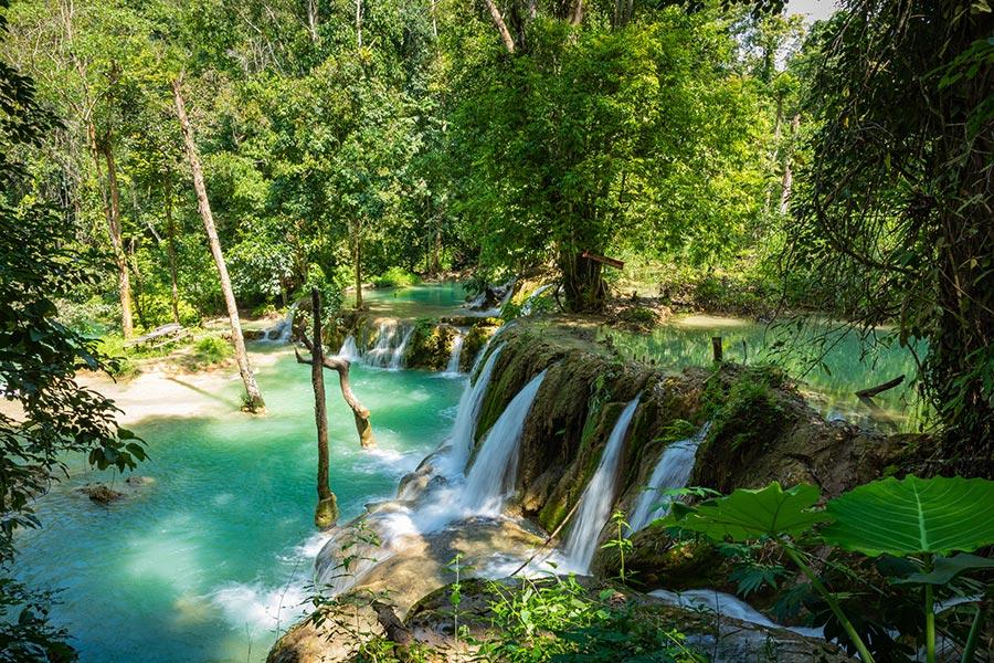 Tad Sae Waterfall in Luang prabang province, Laos