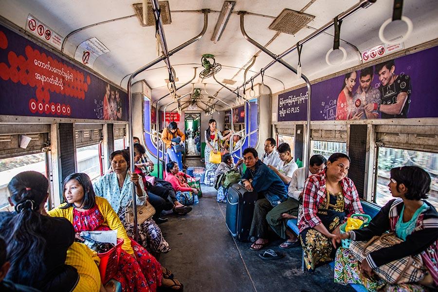 Yangon Circular Train in Myanmar
