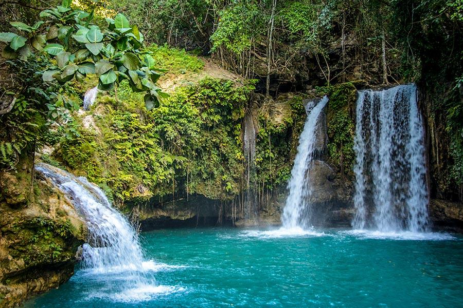 Kawasan Falls on Cebu Island