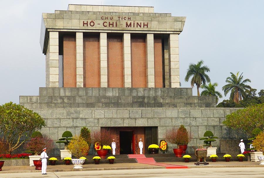 Ho Chi Minh Mausoleum in Hanoi