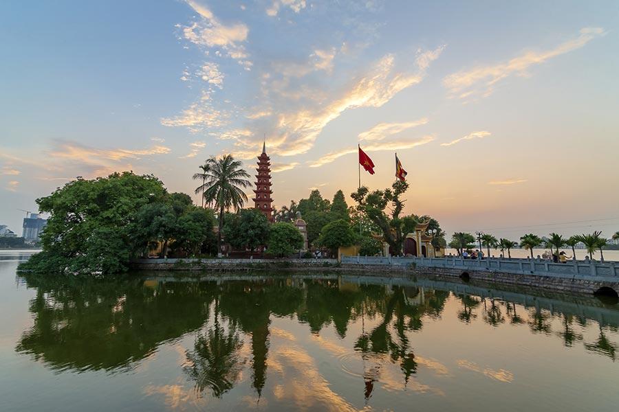 Tran Quoc Pagoda on Hanoi's West Lake