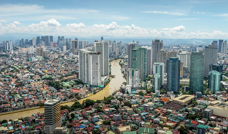 City of Manila - Intramuros and new skyscrapers